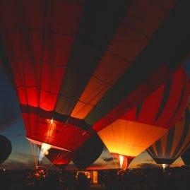 Balloons at Dusk