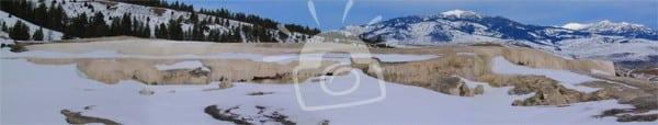 Mammoth Hot Springs Terrace in Winter
