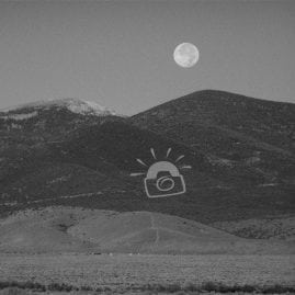 Black and White Moon Rising