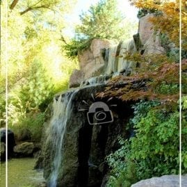 Sasebo Japanese Garden Waterfall