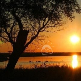Sunset on Medicine Lake