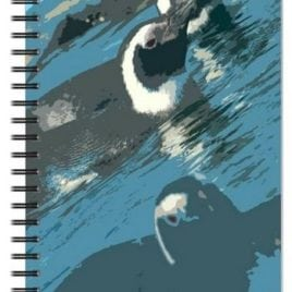 Cut Out Penguins Notebook