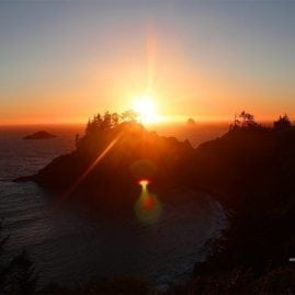 Sunset on the Pacific