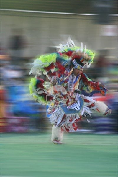 A dancer at North American Indian Days Browning, Montana